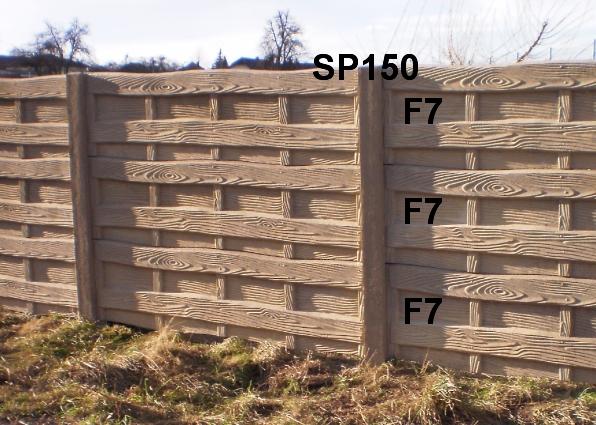 Betonový plot F7,F7,F7,SP150