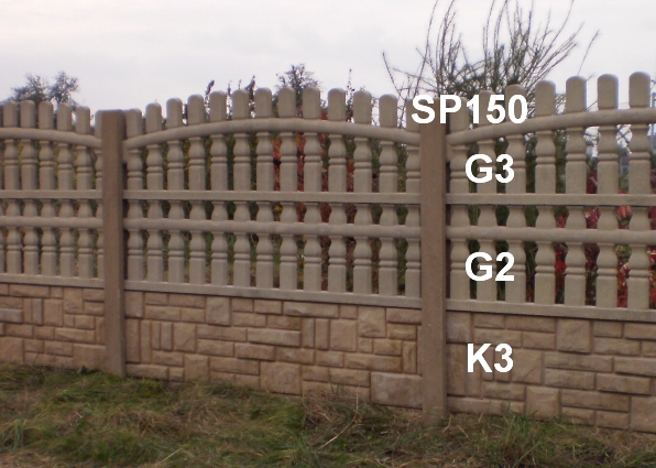 Betonový plot G3,G2,K3,SP150