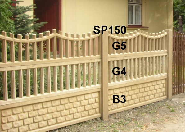 Betonový plot G5,G4,B3,SP150