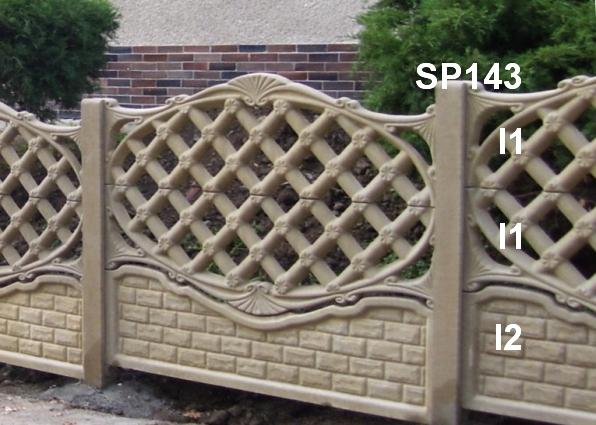 Betonový plot I2,I1,I1,SP143