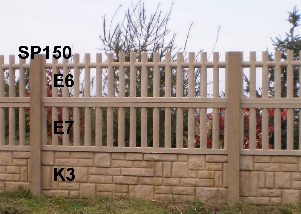 Betonový plot K3,E7,E6,SP150