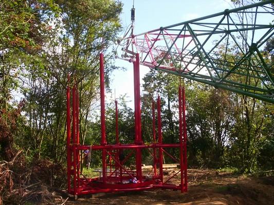 Výroba a montáž trubkového příhradového stožáru v Kvášňovicích