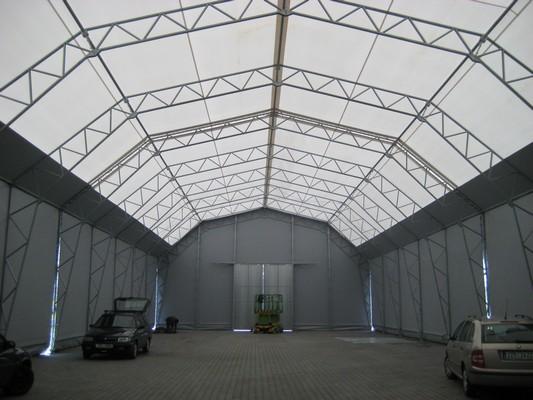 Montáž lehké skladovací haly v Hluku