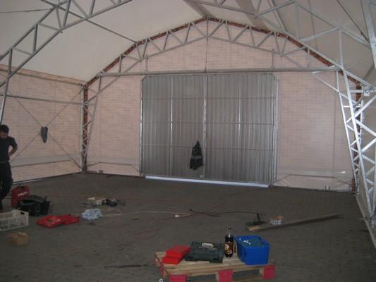 Montáž lehké skladovací haly v Kravařích
